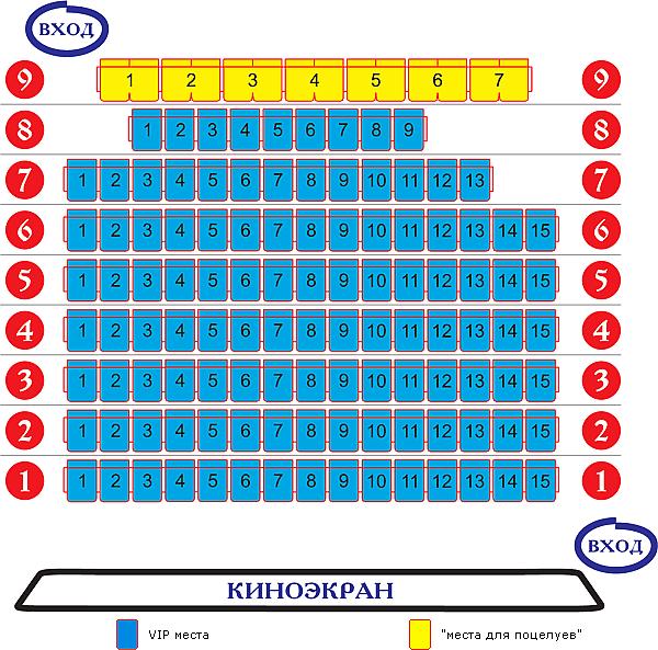 программа показа сети кинотеатров Иллюзион в Приморском крае в городах Уссурийск, Владивосток, Находка.