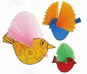 """Разноцветные птички на вилле """"Курица"""""""