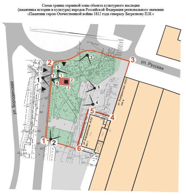 Охранная зона на карте города
