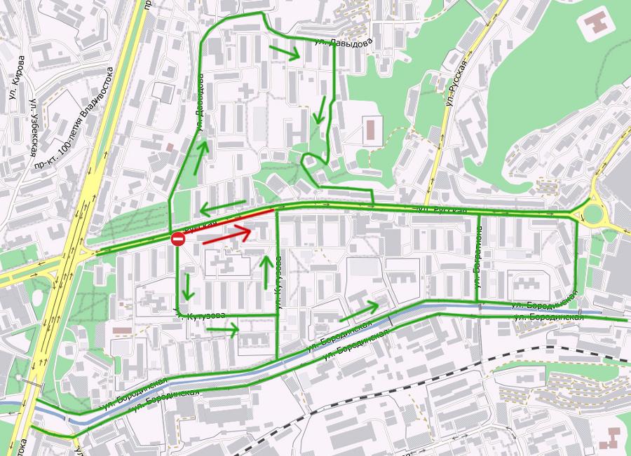 Ограничение на карте города