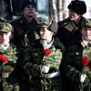 В митинге приняли участие воспитанники кадетских корпусов