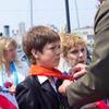 У мемориала подводная лодка С-56 во Владивостоке состоялась торжественная пионерская линейка, посвященная 90-летию со дня основания Всесоюзной пионерской организации имени В. И. Ленина