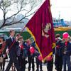 Отрядный флаг — символ чести и сплоченности пионеров, знак их принадлежности к конкретному пионерскому коллективу. С отрядным флагом пионеры выходят на сборы, линейки, парады, праздники, походы, экскурсии, трудовые дела