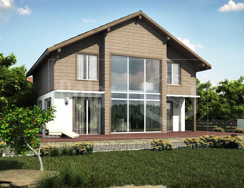 Одноэтажный дачный дом 6 х 8 м - КАРКАСНЫЕ ДОМА